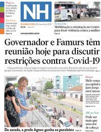 Capa do jornal Jornal NH 30/11/2020