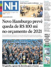 Capa do jornal Jornal NH 31/08/2020
