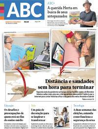 Capa do jornal Jornal NH 31/10/2020