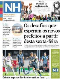 Capa do jornal Jornal NH 31/12/2020