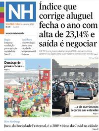 Capa do jornal Jornal NH 04/01/2021