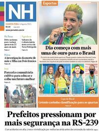 Capa do jornal Jornal NH 04/08/2021