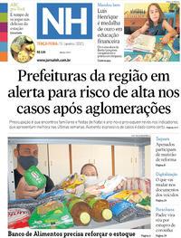 Capa do jornal Jornal NH 05/01/2021