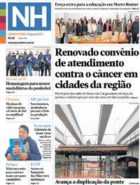 Capa do jornal Jornal NH 05/08/2021