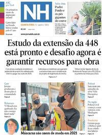 Capa do jornal Jornal NH 06/01/2021