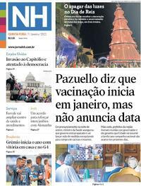 Capa do jornal Jornal NH 07/01/2021