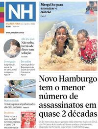 Capa do jornal Jornal NH 11/01/2021