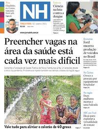 Capa do jornal Jornal NH 12/01/2021