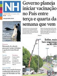 Capa do jornal Jornal NH 14/01/2021