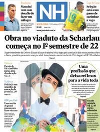 Capa do jornal Jornal NH 15/10/2021