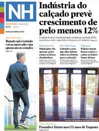Capa do jornal Jornal NH 16/04/2021