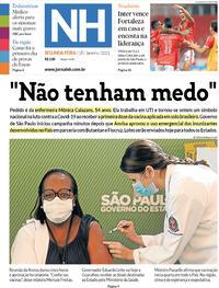 Capa do jornal Jornal NH 18/01/2021