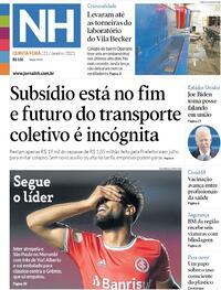 Capa do jornal Jornal NH 21/01/2021