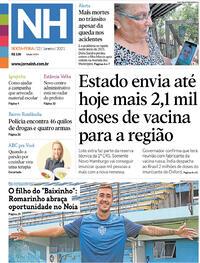 Capa do jornal Jornal NH 22/01/2021