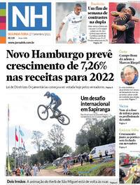 Capa do jornal Jornal NH 27/09/2021