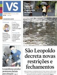 Capa do jornal Jornal VS 08/07/2020