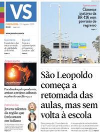 Capa do jornal Jornal VS 13/08/2020