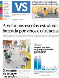 Capa do jornal Jornal VS 20/10/2020