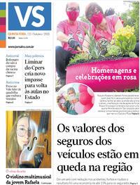 Capa do jornal Jornal VS 22/10/2020