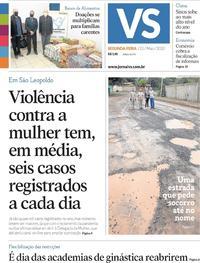 Capa do jornal Jornal VS 25/05/2020