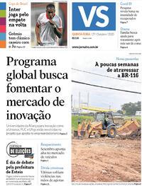 Capa do jornal Jornal VS 29/10/2020