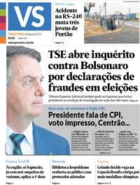 Capa do jornal Jornal VS 03/08/2021