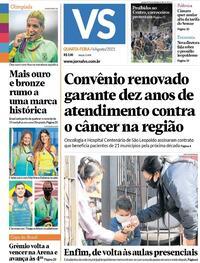 Capa do jornal Jornal VS 04/08/2021