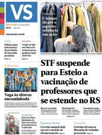 Capa do jornal Jornal VS 14/05/2021