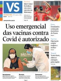 Capa do jornal Jornal VS 18/01/2021