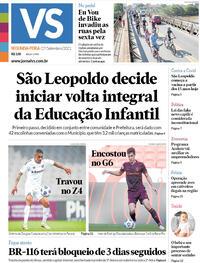 Capa do jornal Jornal VS 27/09/2021