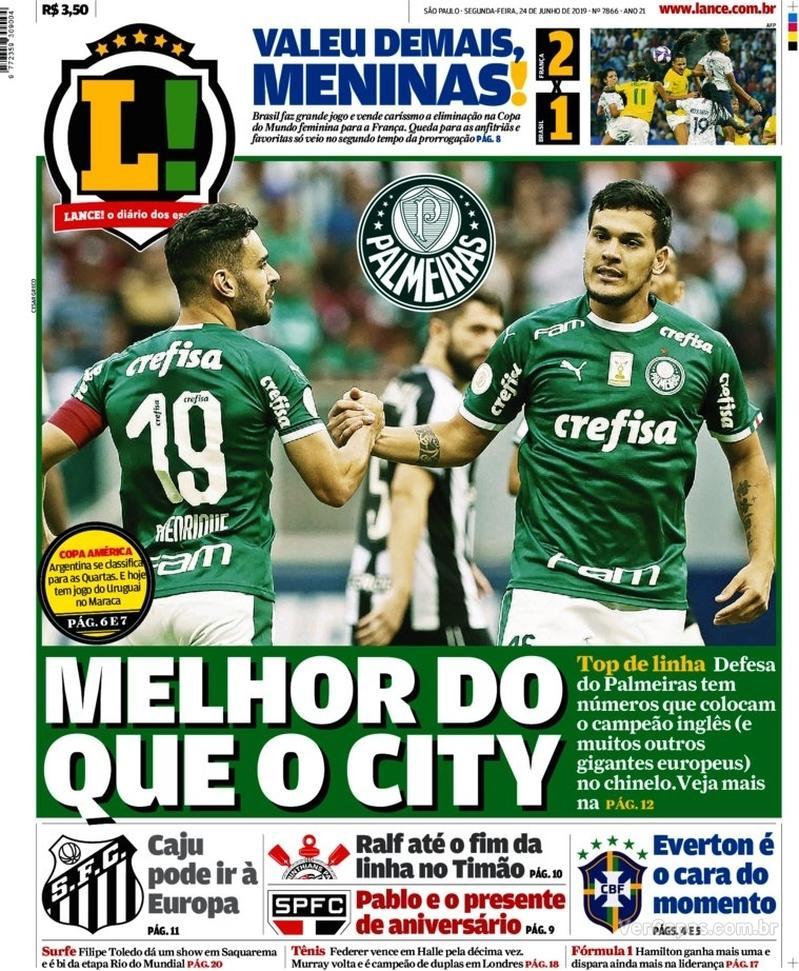 Capa jornal Lance - São Paulo