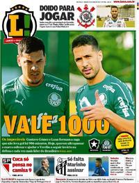 Capa Jornal Lance - São Paulo 25/05/2019