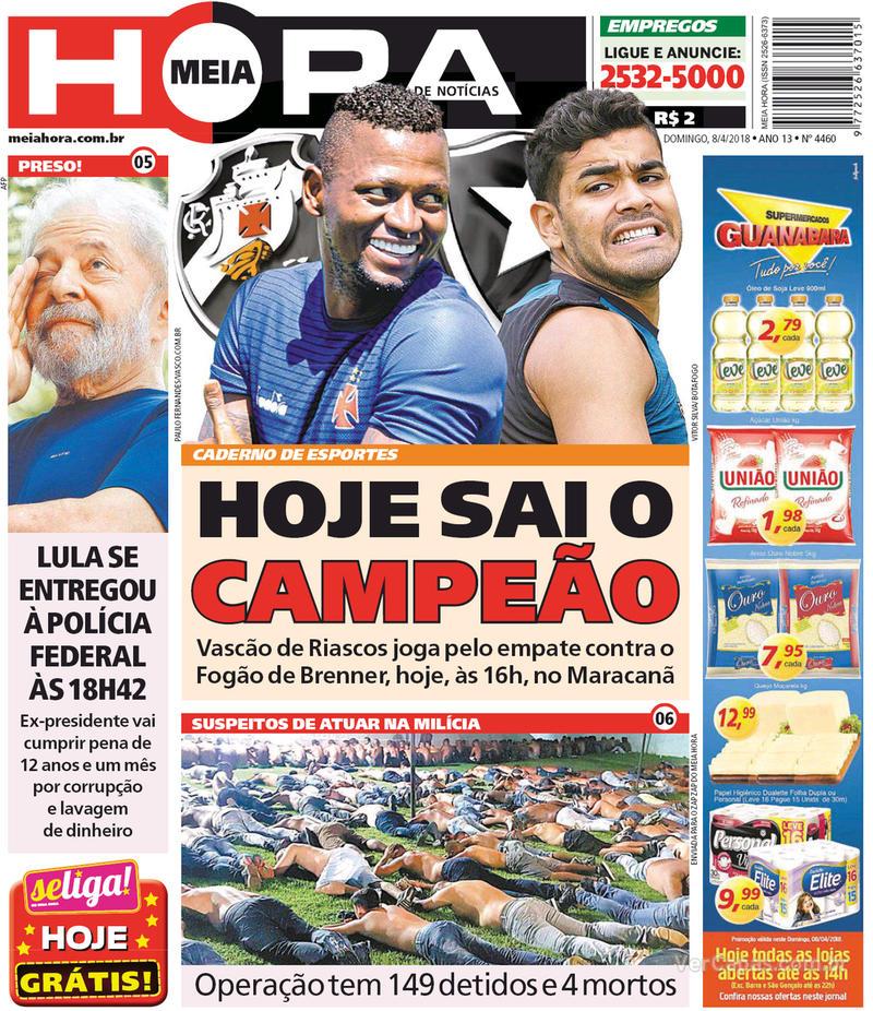 Capa Meia Hora 2018-04-08