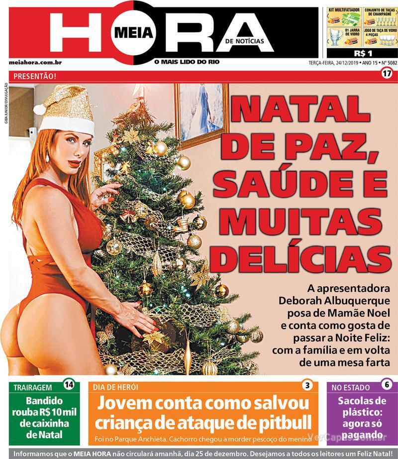 Capa do jornal Meia Hora 24/12/2019