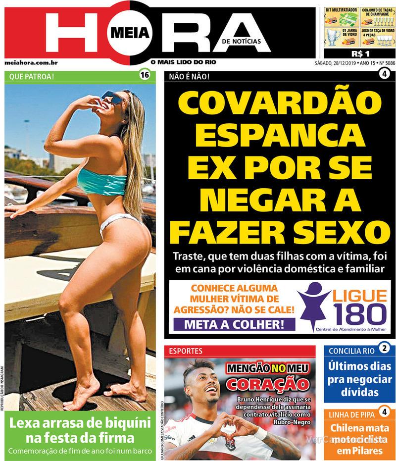 Capa do jornal Meia Hora 28/12/2019