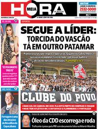 Capa do jornal Meia Hora 04/12/2019