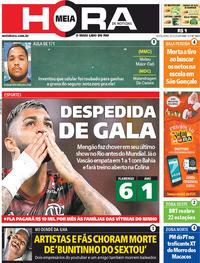 Capa do jornal Meia Hora 06/12/2019