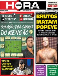 Capa do jornal Meia Hora 07/11/2019