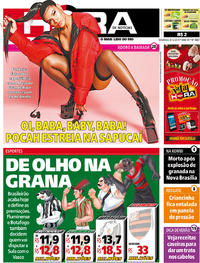 Capa do jornal Meia Hora 08/12/2019