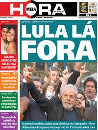 Capa do jornal Meia Hora 09/11/2019