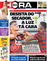 Capa do jornal Meia Hora 11/11/2019