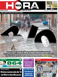 Capa do jornal Meia Hora 12/11/2019