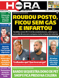Capa do jornal Meia Hora 13/11/2019