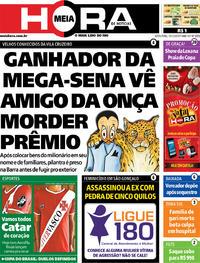 Capa do jornal Meia Hora 13/12/2019