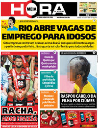 Capa do jornal Meia Hora 14/12/2019