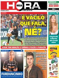 Capa do jornal Meia Hora 17/11/2019