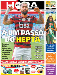 Capa do jornal Meia Hora 18/11/2019