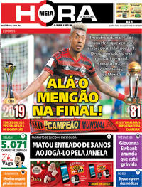 Capa do jornal Meia Hora 18/12/2019