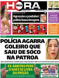 Capa do jornal Meia Hora 19/12/2019