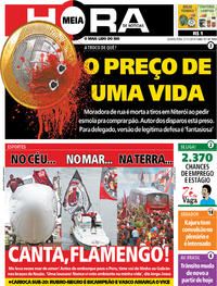 Capa do jornal Meia Hora 21/11/2019